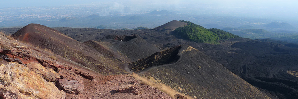 Crater landscape at the top of Etna.