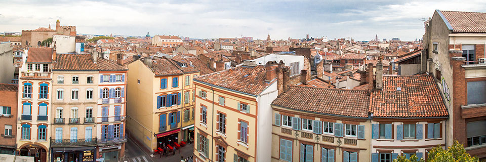 View over the rooftops of Toulouse.
